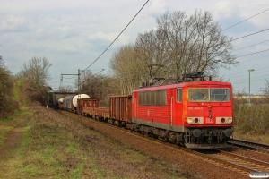 DB 155 004-5. Ahlten 21.03.2014.