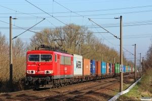 DB 155 075-5. Hamburg-Moorburg 20.03.2014.
