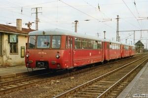 DR 172 773-4+172 173-7+172 729-6+172 129-9 som Tog 3146. Löwenberg 28.03.1991.