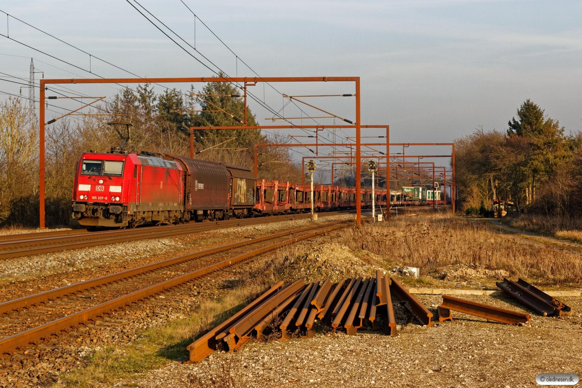 DB 185 337-0 med G 99223 Htå-Fa. Årup 26.02.2019.