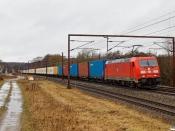 DB 185 328-9+49 containervogne som GD 6010 Pa-Htå. Årup 13.03.2021.