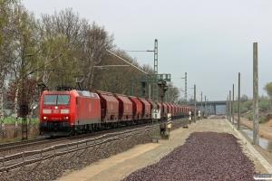 DB 185 046-0 med tomme kalivogne. Radbruch - Winsen 27.04.2013.