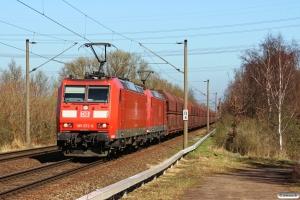 DB 185 072-6+185 007-2. Hamburg-Moorburg 20.03.2014.
