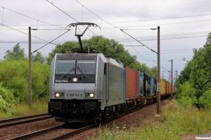 METRANS E 186 141. Hamburg-Moorburg 08.08.2013.