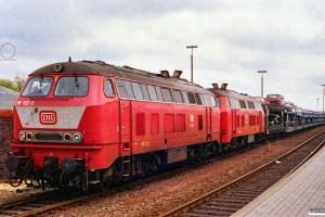 DB 218 102-2+218 114-7. Westerland 15.06.1991.
