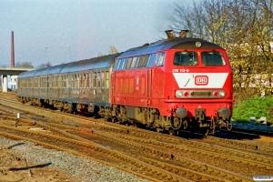 DB 218 113-9. Elmshorn 18.11.1989.