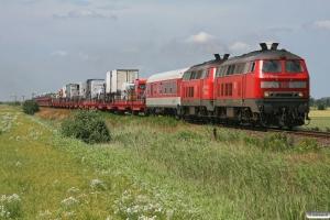 DB 218 181-6+218 131-1 med AS 1433. Lehnshallig - Niebüll 26.06.2009.