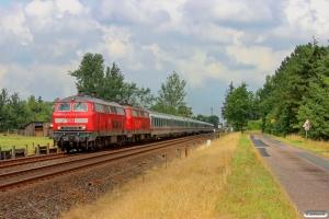 DB 218 307-7+218 362-2 med IC 2191. Langenhorn - Bredstedt 03.08.2014.