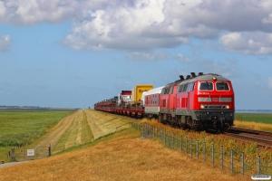 DB 218 322-6+218 380-4 med AS 1429. Morsum - Klanxbüll 18.07.2015.