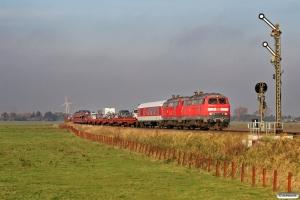DB 218 340-8+218 313-5 med AS 1425. Lehnshallig 22.10.2011.