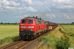 DB 218 342-4+218 397-8 med AS 1444. Niebüll - Lehnshallig 28.06.2014.
