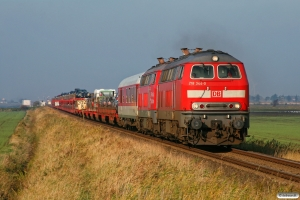 DB 218 344-0+218 362-2 med AS 1423. Lehnshallig - Niebüll 22.10.2011.