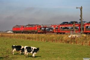 DB 218 362-2+218 344-0 med AS 1426. Lehnshallig 22.10.2011.