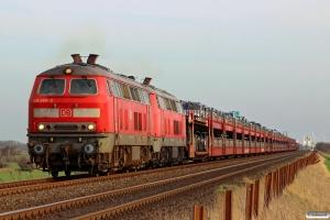 DB 218 366-3+218 315-0 med AS 1444. Klanxbüll - Morsum 26.03.2016.