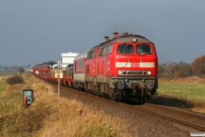 DB 218 372-1+218 371-3 med AS 1429. Klanxbüll - Lehnshallig 22.10.2011.