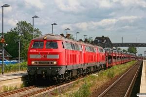 DB 218 381-2+218 371-3+218 372-1 med AS 1438. Klanxbüll 26.06.2009.