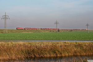 DB 218 386-1+218 822-5 med AS 1434. Klanxbüll - Morsum 22.10.2011.