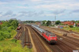 DB 218 386-1+218 315-0 med IC 2191. Westerland 28.06.2014.