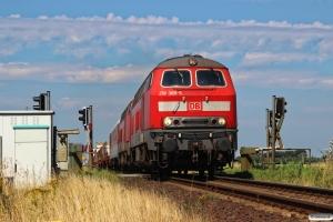 DB 218 389-5+218 381-2 med AS 1425. Lehnshallig - Niebüll 03.08.2015.