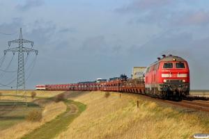 DB 218 389-5+218 473-7+vogne+628 512+928 512 som AS 1431. Morsum - Klanxbüll 26.03.2016.