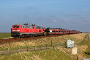 DB 218 473-7+218 389-5+vogne+928 509+628 509 som AS 1434. Klanxbüll - Morsum 26.03.2016.
