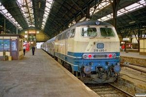 DB 218 485-1. Lübeck 12.08.1989.