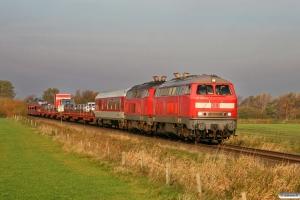 DB 218 822-5+218 386-1 med AS 1419. Lehnshallig - Niebüll 22.10.2011.