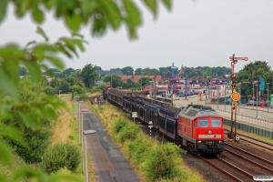 DB 232 669-2 med EZ 47403. Niebüll 03.08.2014.