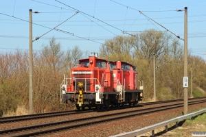 DB 295 043-4+362 523-3. Hamburg-Moorburg 20.03.2014.