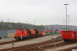 DB 363 650-3 rangerer ved vognvækstedet. Maschen 27.04.2013.