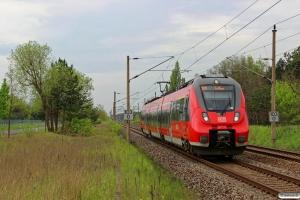 DB 442 142+442 642 som RE 18223. Ziltendorf - Eisenhüttenstadt 13.05.2017.