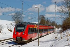 DB 442 843+442 343 som S 33414. Papendorf 02.04.2018.