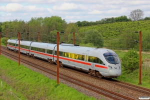 DB 605 020-6+605 120-4+605 220-2+605 520-5 som IE 380 Pa-Ar. Km 16,2 Fa (Taulov-Kolding) 16.05.2014.