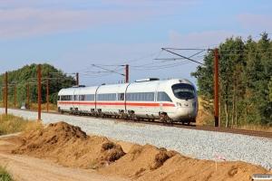 DB 605 019-8+605 119-6+605 219-4+605 519-7 som IE 380 Pa-Fa. Km 54,0 Fa (Sommersted-Vojens) 08.08.2014.