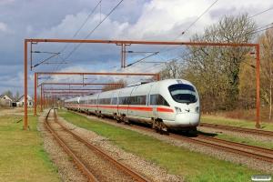 DB 605 516-3+DB 605 019-8 som M 8128 Pa-Rg. Kauslunde 08.04.2016.