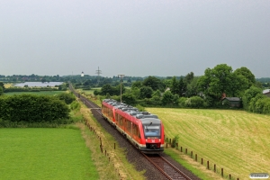 DB 648 334+648 834+648 844+648 344 som RE 21929. Flensburg - Husby 17.06.2016.