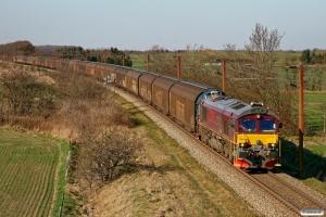 CFLCD T66K 714 med CG 87222 Hr-Pa. Km 54,4 Fa (Sommersted-Vojens) 25.03.2012.