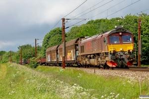 CFLCD T66K 714 med CG 6655 Ro-Fa. Km 41,0 Kh (Roskilde-Viby Sj) 02.06.2012.