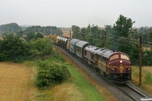 CFLCD MX 1023+T66K 714+2 godsvogne+BLP Lok 4+sporombygningsmateriel som CG 6102 Hr-Pa. Km 54,4 Fa (Sommersted-Vojens) 28.07.2012.