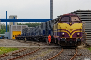 CFLCA 1814 med vogne til svellefabrikken. Fredericia 10.05.2018.