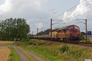 CFLCD MX 1023+CFLCA 1814+15 læssede svellevogne som CB 8106 Fa-Rg. Km 193,0 Kh (Gelsted-Ejby) 08.08.2019.