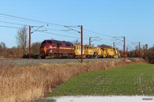 CFLCD MX 1029+2 SWIE arbejdskøretøjer som CB 6129 Rg-Pa. Km 167,6 Kh (Odense-Holmstrup) 31.01.2021.