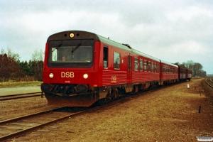 DSB MR/D 43+CP 3244+BHL 401 som M 8015 Od-Fa. Holmstrup 21.03.1991.