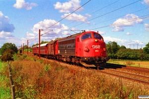 DSB MY 1150+HD+CL 1630+CL 1589 som M 6667 Fa-Fl. Km 24,2 Ng (Marslev-Odense) 04.09.1993.