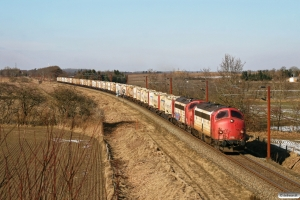 RCDK MY 1134+MY 1122 med RG 6717 Tl-Pa. Km 54,4 Fa (Sommersted-Vojens) 15.03.2013.