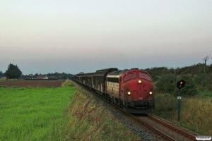 RCDK MY 1134+24 godsvogne+STAB MZ 1425 som Tog 145016 Hhs-Hj. Km 9,0 Hj (Vidstrup-Sønderby) 15.09.2016.