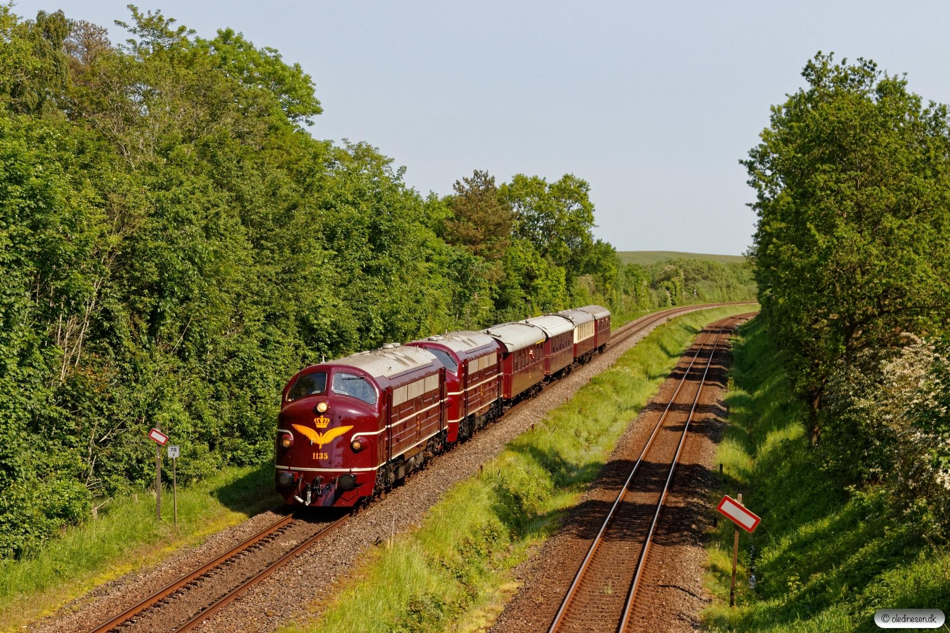 DSB MY 1135+MY 1101+AX+AC+BU+CC som VP 222403 Od-Ar. Km 78,2 Fa (Hovedgård-Skanderborg) 05.06.2019.