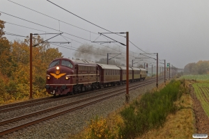 DSB MY 1101+AC+CC+AX+BU som VM 6432 Pa-Vm. Km 57,4 Fa (Sommersted-Vojens) 31.10.2020.