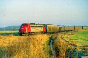 DJ MY 1154 rangerer med GF 6653 Tdr-Tin. Tønder Industrispor Nord 24.02.2006.