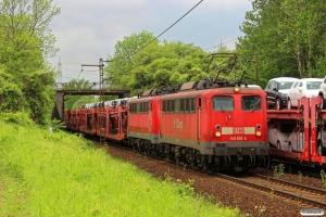 DB 140 600-8+140 716-2. Ahlten 09.05.2014.